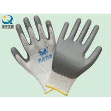 En388 poliéster Shell Nitrilo revestido guante de trabajo de seguridad de seguridad (N6007)