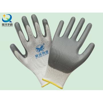 13G graue Nitril beschichtete Sicherheits-Arbeitshandschuhe (N6007)