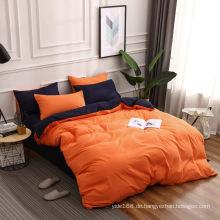 einfarbiges Bettwäscheset für den Heimgebrauch