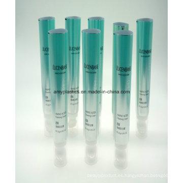 Aluminio plástico laminado tubo para cosméticos Facial limpiador con cepillo para el pelo