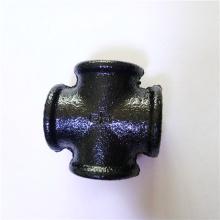 raccord de tuyau coude / raccords de tuyauterie en fonte malléable noire