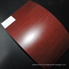 PE Material de painel de alumínio de madeira PVDF