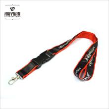 Doble capa de poliéster / cinta de satén cordón con logotipo personalizado
