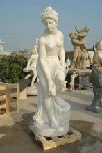 White Marble Nude Statue Carving for Home Decoration