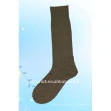 De punto de poliéster suave de largo los hombres calcetines del ejército