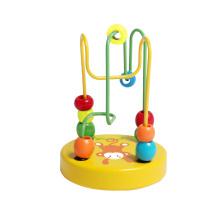 Cute Mini Beads Toy en bois pour bébés et bébés
