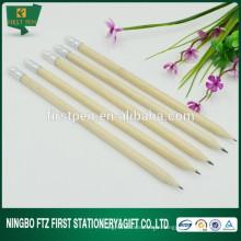 Crayon bon marché en bois massif avec gomme à effacer