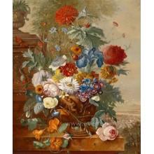 Handmade, bonito, flor, quadro, lona