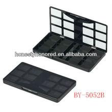 Populäre Einspritzung schwarze Farbe Lidschattenverpackung / Plastik bilden Augenschattenbehälter