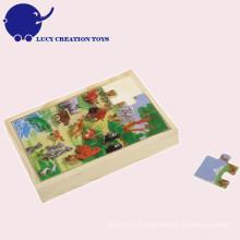 Kundenspezifische pädagogische Kinder hölzernes Puzzlespiel-Spielzeug