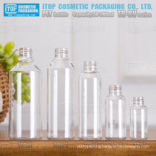 TB-BV Series 30ml 60ml 120ml 200ml 280ml attractive wide application color customizable round PET clear empty plastic bottle