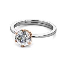 New 2021 Luxury Jewelry 925 Sterling Silver 1 Carat Gra Moissanite Diamond Ring for Women