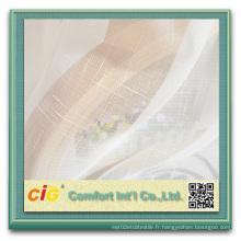 Tissu à rideaux en croûte à carreaux en fibre de verre