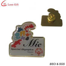 Custom Bass Special Olympics Metal Badge (LM1737)