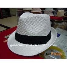 Custom Paper chapéu de fedora branco