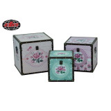 Romantic PU Covered Gift Wooden Boxes