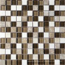 Mosaico de vidrio de mezcla de piedra (HGM205)