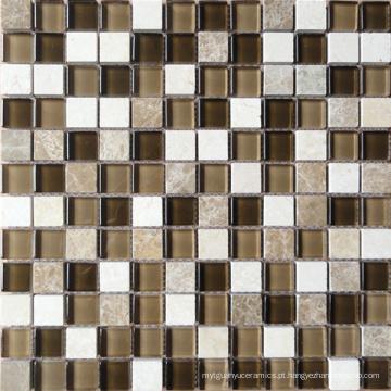 Mosaico de vidro de mistura de pedras (HGM205)