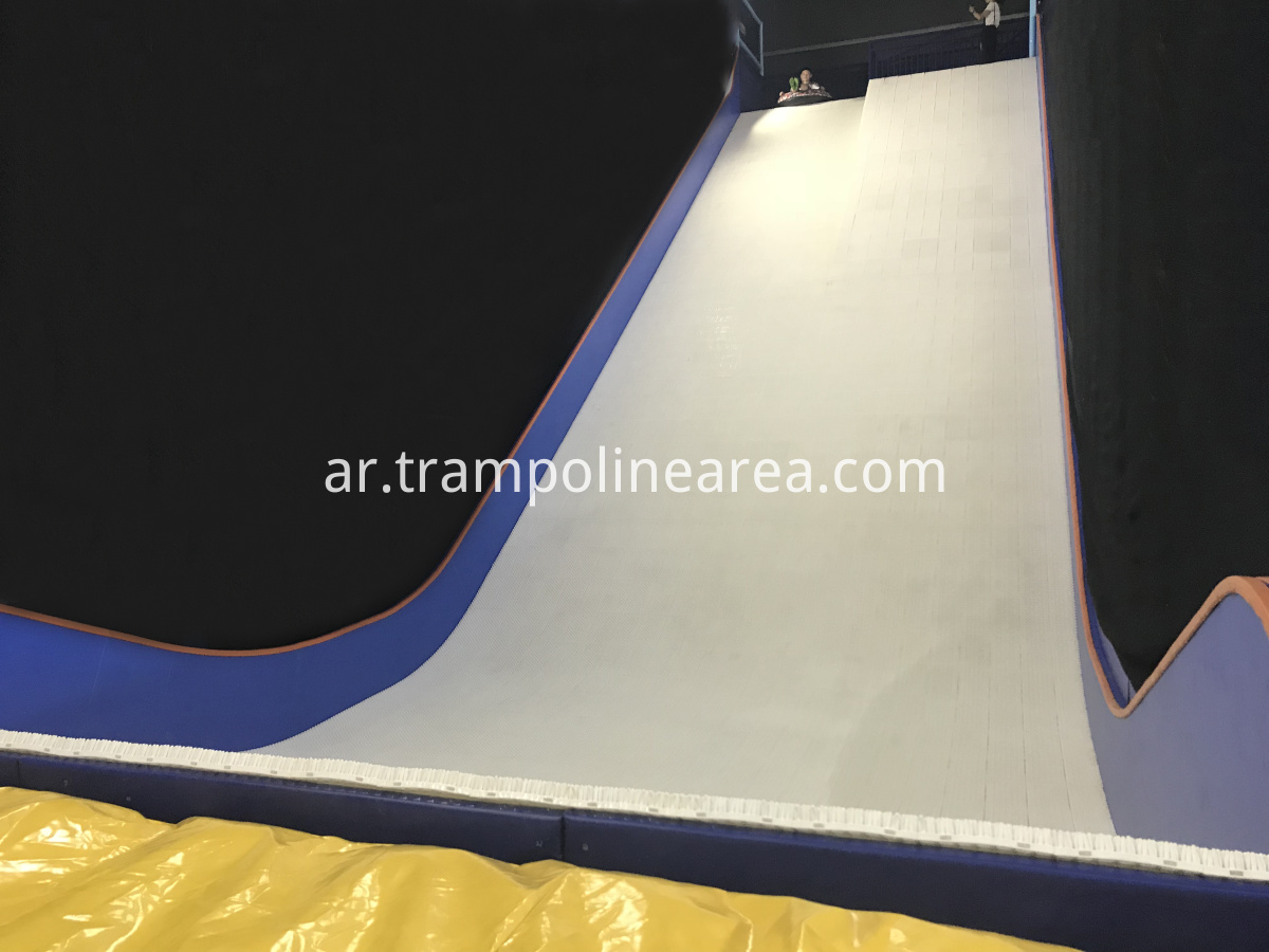 Trampoline park with spider wall