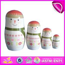 2014 kleine Schönheit Keramik russische Matryoshka Puppen, hölzerne handbemalte Verschachtelung Puppen benutzerdefinierte Matryoshka Puppen Fabrik W06D033