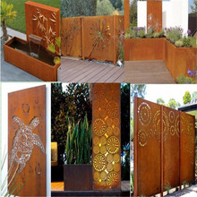 Rusted Metal Garden Screens