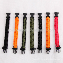 Rover Camel Outdoor Reflective Rope Lanyard Lifesaving Emergency Survival Bracelet Work 9-cores Bracelet