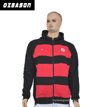 New Style Top Quality Hoodied Sweatshir, Black and Red Stripes Hoodie
