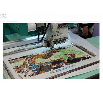 220V / 50Hz Einzelkopf Kompaktes Kleidungsstück Einzelkopf Stickmaschine 15 Nadel