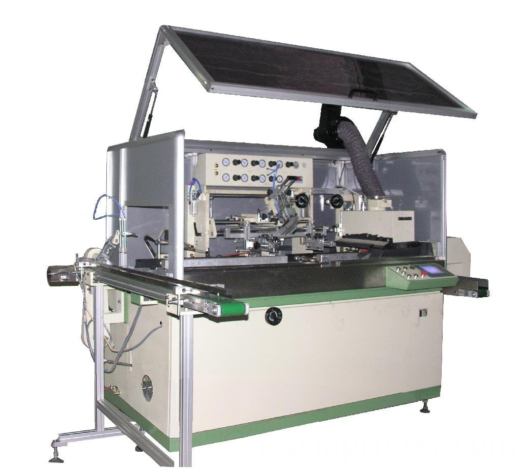 Full Automatic round silk screen printing machine for round bottle oblate bottle