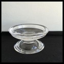 Glass Footed Pillar Holder