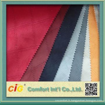 Chine Tissu de suède de tapisserie d'ameublement de sofa de haute qualité