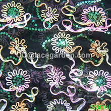 135cm Width Ribbon Embroidery Fabric