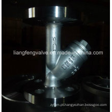 Y-Strainer of Flange End RF com aço carbono