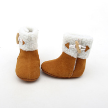 Brown Winter warme Babyschuhe