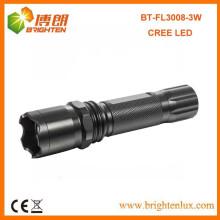 Fabrik Verkauf CE High Power Aluminium Best Americal CREE führte 3watt Multifunktions 1101 Polizei führte Taschenlampe Taschenlampe