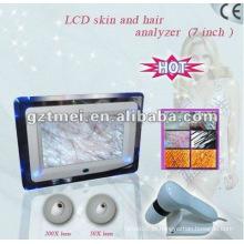 7 polegadas mini pele e analisador de cabelo máquina