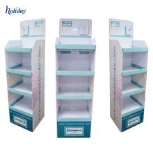 Ponto do grande suporte de exposição do papel do PNF da compra para a ampola, material de papel claro de empacotamento Estale acima a exposição