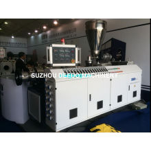 Linha de produção de tubo de parafuso duplo de PVC