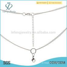 Popular mulheres moda feminina ouro finas correntes colares, colar de prata cadeias a granel