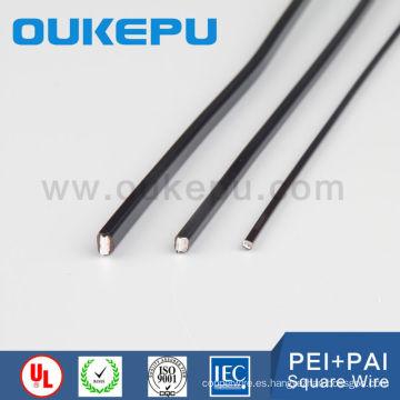 socios de transformador de China de fábrica de Zhejiang barniz alambre cuadrado de aluminio