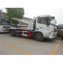 Dongfeng 4x2 flatbed road wrecker in Africa