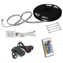 RGB 300LEDs 5050 SMD LED Bande Strip Light Kit + 5A Adapteur Contrôleur IR