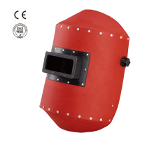 Industrial safety red steel paper welding helmet