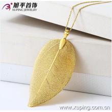 Moda Xuping ouro 24k Fantasia jóia da liga Pendant com planta uma folha em forma de 31940