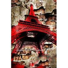 Знаменитый спецэффект Эйфелева башня Холст печать настенное украшение
