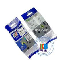 Branco em fita de identificação preta compatível com fita Tz 345 para uso de impressoras de etiquetas