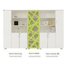 Schöne moderne weiße und grüne große offene Büro Aktenschrank mit Schublade (FOH-FC-M1220)