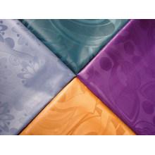 Tela de jacquard africana del telar del damasco del poliéster tejer el hilado del precio de fábrica de la tela del brocado de Guinea del telar