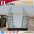 reboque de inclinação em tandem galvanizado por imersão a quente com caixa de gaiola