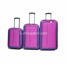 3 pezzi Carry on Travel Trolley Luggage